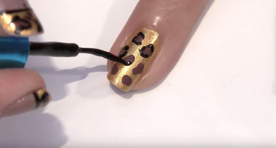 leoparden print french tips design zum selber machen. Black Bedroom Furniture Sets. Home Design Ideas